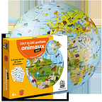 Globe gonflable quiz animaux
