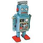 Vintage robot with soft head