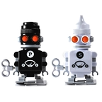Salt and Pepper Shakers Robots