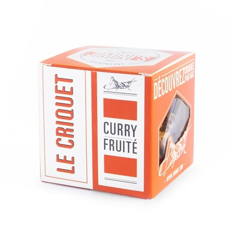 Edible insects - Grasshoppers Fruity curry