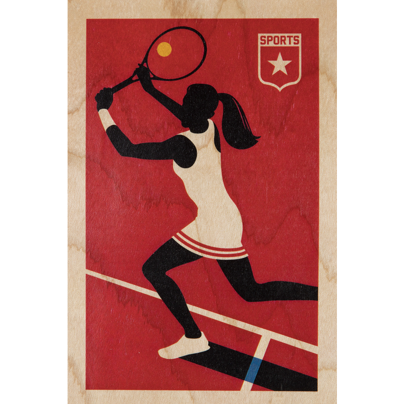 Carte postale Woodhi Bois Tennis