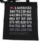 Tote Bag Pi Degrade