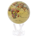 Globe Terre Political Map Yellow
