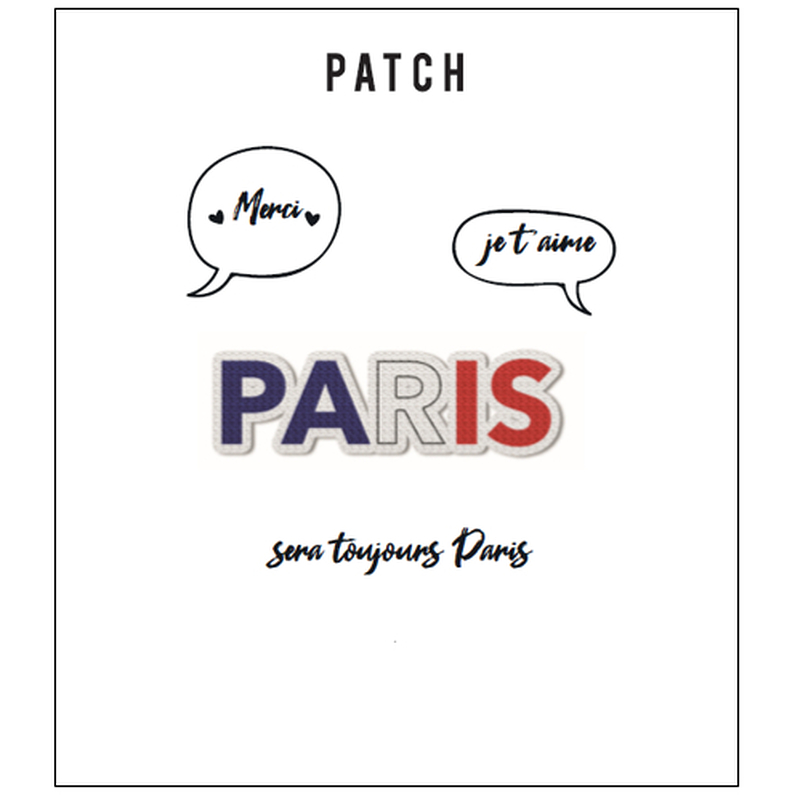 Embroidered patch Paris