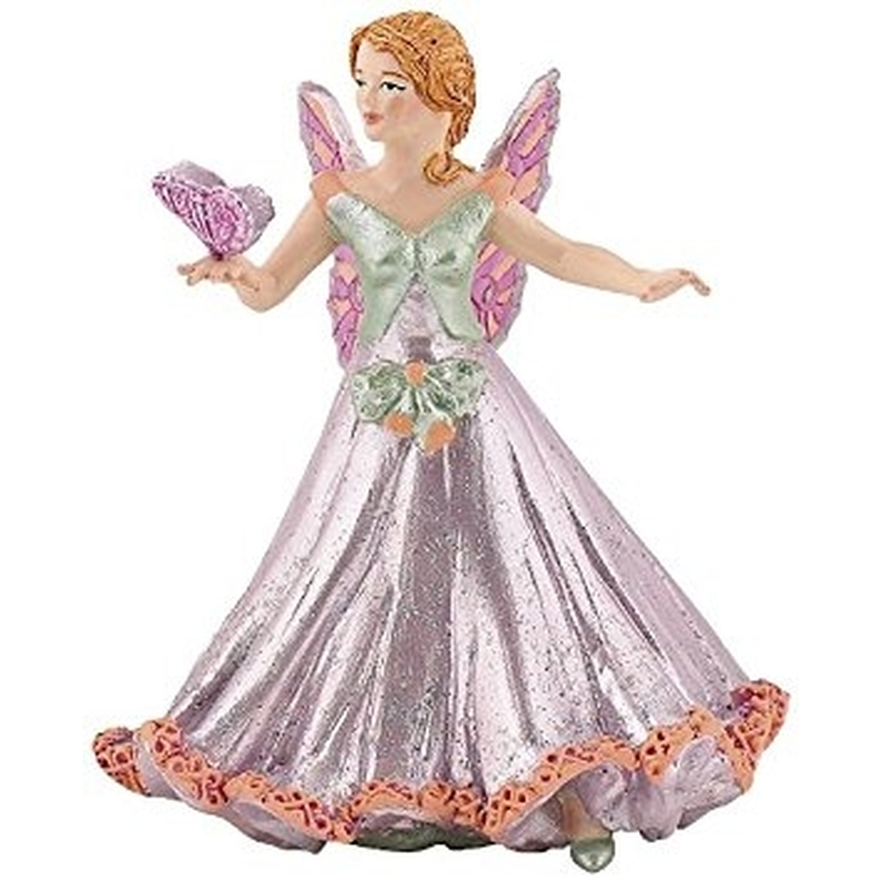 Figurine Elfe Papillon Rose